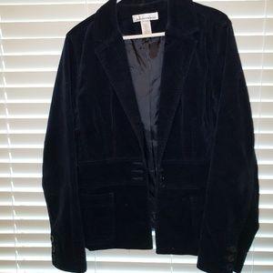 Jones New York crushed velvet jacket